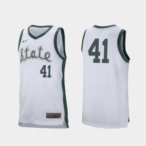 Retro Performance Conner George MSU Jersey College Basketball White #41 Mens 358432-833