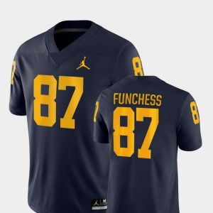 #87 Game Men's College Football Navy Devin Funchess Michigan Jersey 356359-734
