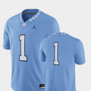 2018 Game Carolina Blue College Football For Men's UNC Jersey #1 332402-767