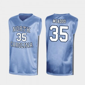 March Madness #35 Men's Special College Basketball Royal Ryan McAdoo UNC Jersey 265344-865