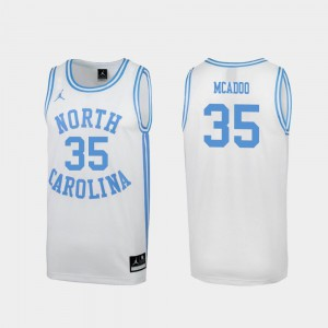 Special College Basketball White March Madness Ryan McAdoo UNC Jersey #35 For Men's 888779-984
