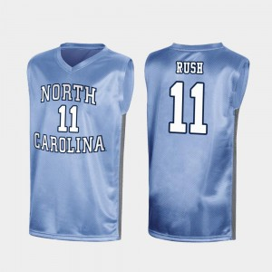 Men's Special College Basketball March Madness Royal #11 Shea Rush UNC Jersey 762155-381