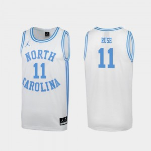 Shea Rush UNC Jersey Special College Basketball White March Madness For Men's #11 606905-588