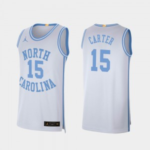 Vince Carter UNC Jersey White Retro Limited College Basketball #15 For Men 473514-381