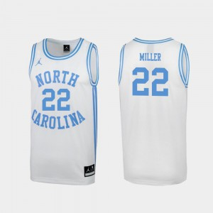 Mens #22 Special College Basketball March Madness White Walker Miller UNC Jersey 195559-203