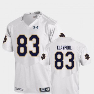 White For Men's Replica College Football Chase Claypool Notre Dame Jersey #83 212061-655