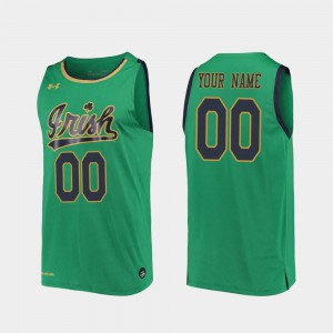 Replica 2019-20 College Basketball Men Kelly Green #00 Notre Dame Customized Jersey 326444-262