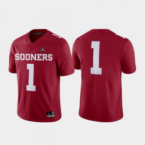 2018 College Football Playoff OU Jersey Crimson Game For Men's #1 263243-928