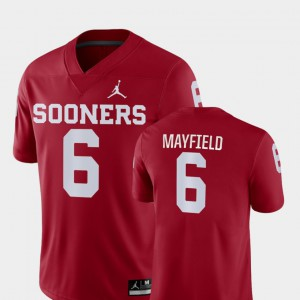 Baker Mayfield OU Jersey #6 For Men's Crimson Game College Football 391151-290