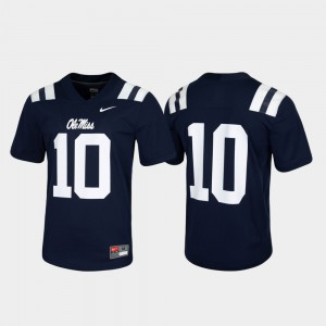 Ole Miss Jersey Untouchable Mens Navy Game #10 612684-256