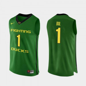 Bol Bol Oregon Jersey #1 For Men Authentic College Basketball Apple Green 356333-749