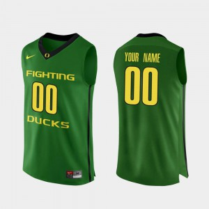 #00 Oregon Customized Jersey Apple Green College Basketball For Men's Authentic 862670-727