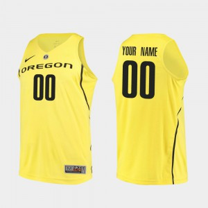 Yellow College Basketball Oregon Customized Jersey #00 Men Authentic 579358-198