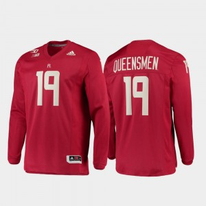#19 Mens Rutgers Jersey Strategy Long Sleeve College Football Scarlet 150th Anniversary 301963-777