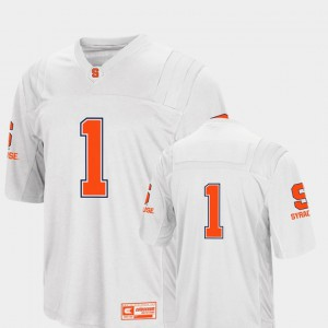 White Syracuse Jersey College Football #1 Colosseum For Men's 988619-222