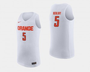 #5 Patrick Herlihy Syracuse Jersey White College Basketball For Men 423512-701