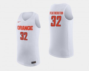 College Basketball For Men White Ray Featherston Syracuse Jersey #32 305421-302