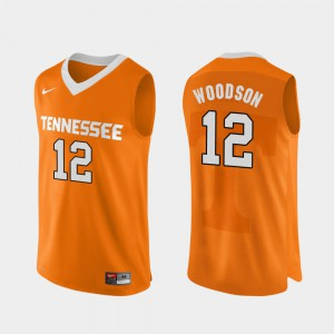 Orange College Basketball Authentic Performace For Men #12 Brad Woodson UT Jersey 617588-606