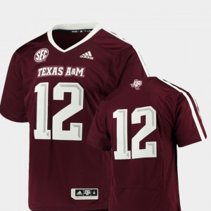 For Men's College Football Maroon Premier #12 Texas A&M Jersey 221101-510