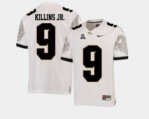 College Football For Men White Adrian Killins Jr. UCF Jersey #9 American Athletic Conference 552682-612