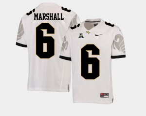Brandon Marshall UCF Jersey Men's #6 College Football American Athletic Conference White 408037-428