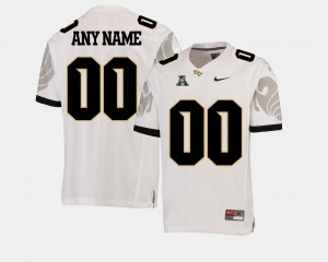 American Athletic Conference College Football #00 UCF Customized Jerseys For Men White 321359-922
