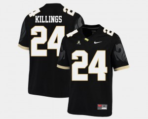 D.J. Killings UCF Jersey #24 American Athletic Conference Black Mens College Football 181440-301