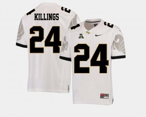 White American Athletic Conference College Football Men's #24 D.J. Killings UCF Jersey 942200-120