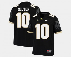 Mckenzie Milton UCF Jersey American Athletic Conference Black #10 College Football Men's 462919-750