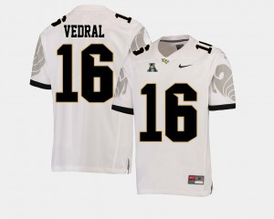 #16 Noah Vedral UCF Jersey American Athletic Conference College Football For Men's White 496756-409