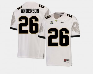 Otis Anderson UCF Jersey #26 College Football Mens American Athletic Conference White 185360-864