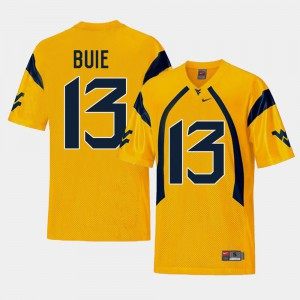 Andrew Buie WVU Jersey #13 Gold For Men Replica College Football 604742-897