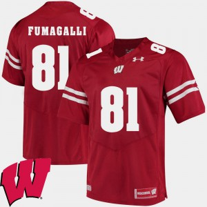 #81 Alumni Football Game 2018 NCAA Troy Fumagalli Wisconsin Jersey For Men Red 583664-374