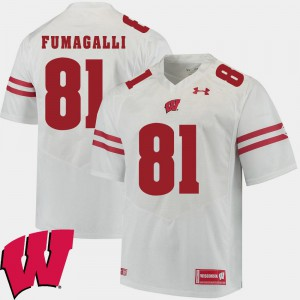 2018 NCAA For Men White #81 Alumni Football Game Troy Fumagalli Wisconsin Jersey 186371-307