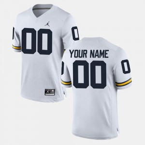Michigan Customized Jersey For Men #00 College Limited Football White 511798-385