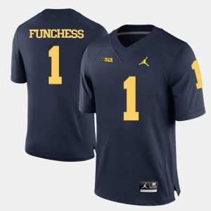 Devin Funchess Michigan Jersey Navy Blue #1 College Football Mens 636939-734