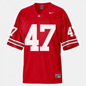 A.J. Hawk OSU Jersey College Football #47 For Kids Red 272407-306