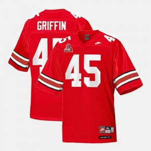 Men's #45 College Football Archie Griffin OSU Jersey Red 889082-990