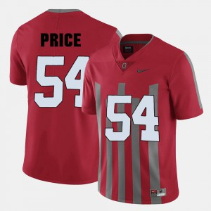 For Men Red College Football Billy Price OSU Jersey #54 733349-379