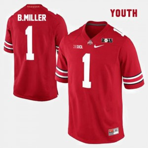 Youth Red Braxton Miller OSU Jersey College Football #1 904199-448