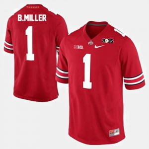 Braxton Miller OSU Jersey #1 Red College Football For Men's 707628-839