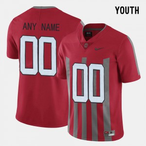 OSU Customized Jersey #00 Red Youth Throwback 987097-905