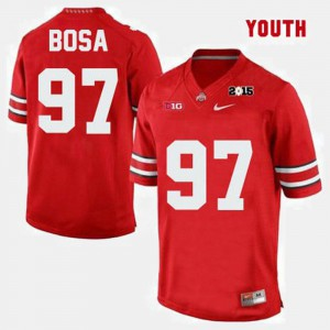 #97 Red College Football Joey Bosa OSU Jersey For Kids 202432-220