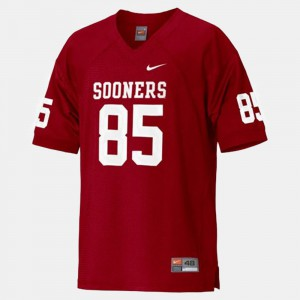 Red #85 College Football Ryan Broyles OU Jersey Youth(Kids) 802607-274