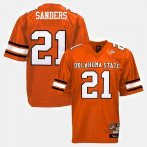#21 For Kids College Football Orange Barry Sanders Oklahoma State Jersey 591886-536