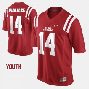 Bo Wallace Ole Miss Jersey Red College Football Kids #14 429827-944