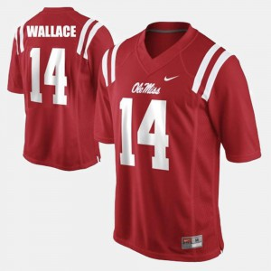 For Men Red #14 College Football Bo Wallace Ole Miss Jersey 593804-713