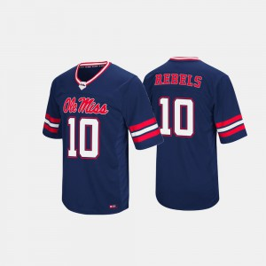 Ole Miss Jersey #10 Hail Mary II For Men Navy 169993-804