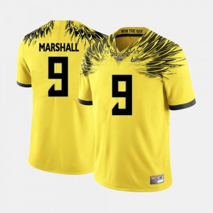 Yellow Byron Marshall Oregon Jersey College Football For Men's #9 743095-968