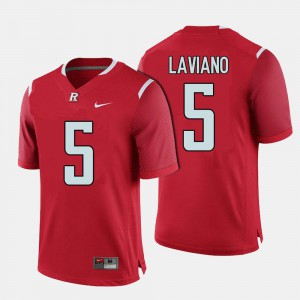 College Football #5 Red Chris Laviano Rutgers Jersey Men 996910-344